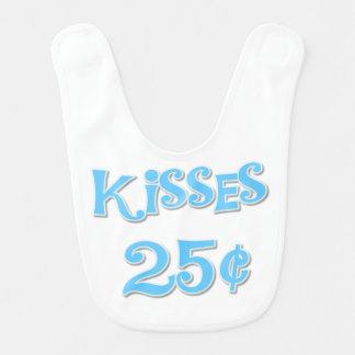 Blue Kisses 25 Cents Bib