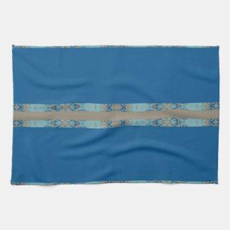 blue kitchen towel