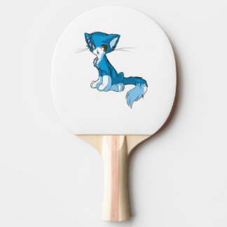 Blue Kitty Paddle Ping Pong Paddle
