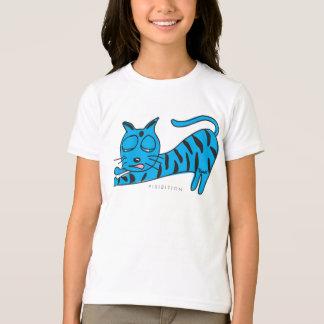 Blue Kitty Stretch Girl T-Shirt