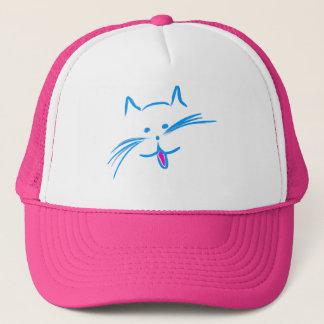 Blue Kitty Trucker Hat