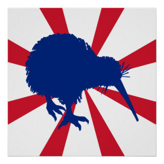 Blue Kiwi Poster