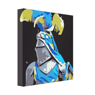 Blue Knight Canvas Print
