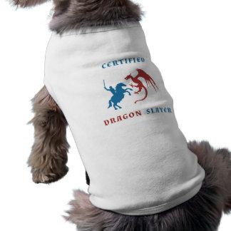 Blue Knight vs Red Dragon Doggie Tshirt