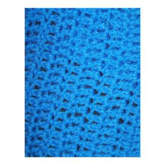 Blue Knit Crochet Afghan Pattern Scrapbooking Letterhead