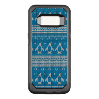 Blue Knitted Background OtterBox Commuter Samsung Galaxy S8 Case