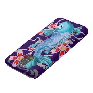 Blue Koi Fish on indigo Case For Galaxy S5