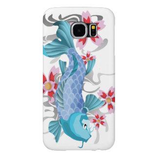 Blue Koi Fish Samsung Galaxy S6 Cases
