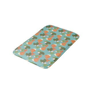 Blue Koi Pond Bathroom Mat