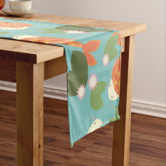 Blue Koi Pond Short Table Runner