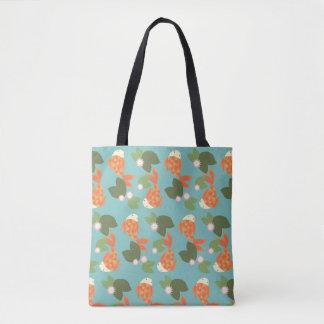 Blue Koi Pond Tote Bag