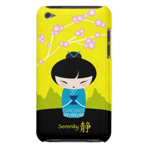 Blue kokeshi iPod touch case