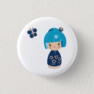 Blue Kokeshi Triplet Pin