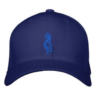 Blue Kokopelli Embroidered Hat