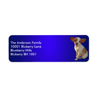 Blue Label Return Address Chihuahua Return Address Label