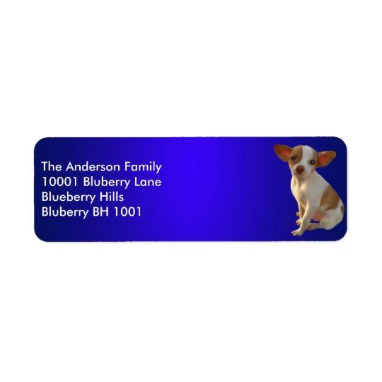 Blue Label Return Address Chihuahua Return Address Label