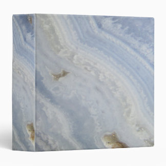 Blue Lace Agate Swirl cool nature stone Vinyl Binder