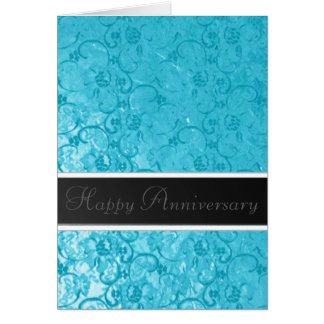 Blue Lace Anniversary Greeting Card