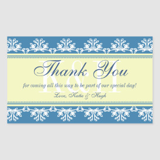 Blue lace border thank you out of town gift bag