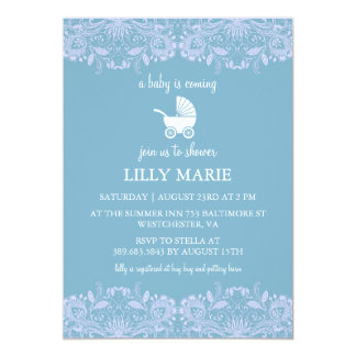 Blue Lace | Boy Baby Shower Invitation
