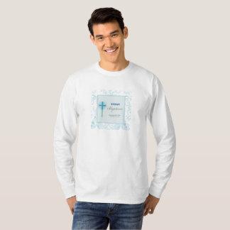 Blue Lace Boy Baptism T-Shirt