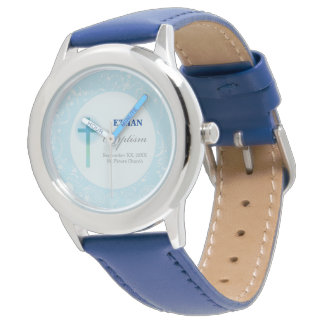Blue Lace Boy Baptism Watch