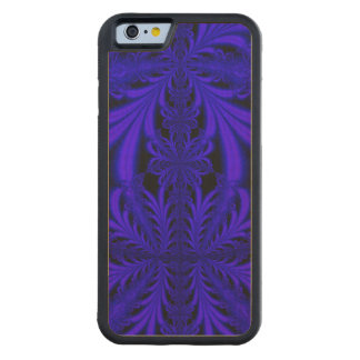 Blue Lace look Floral Fractal Carved Maple iPhone 6 Bumper Case