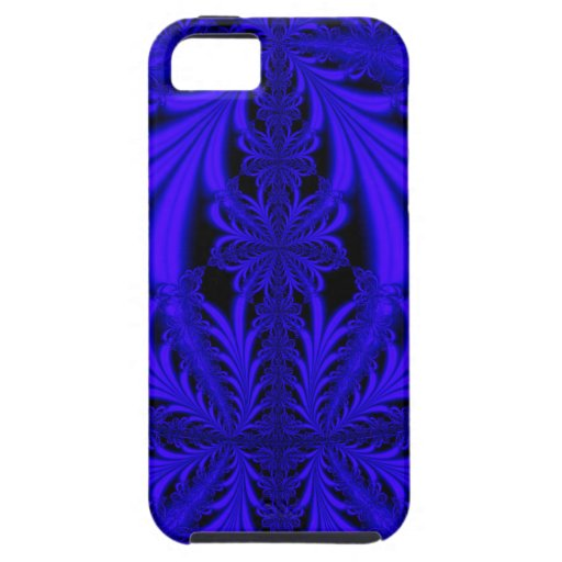 Blue Lace look Floral Fractal iPhone 5 Case iPhone 5 Case