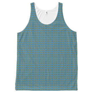 Blue--Lace-Paw-Delicate's-Tank-Top All-Over-Print Tank Top