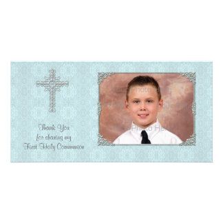 Blue Lace Religious Photo Card