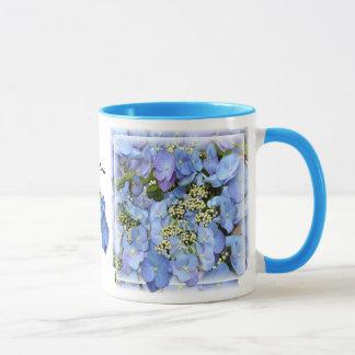 Blue Lacecap Hydrangeas Mug