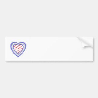 Blue Laced Heart Photo Frame Bumper Sticker
