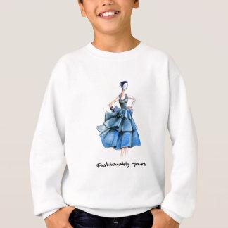 Blue Lady2 Sweatshirt