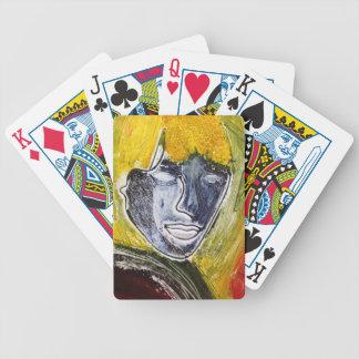 Blue lady original art playing cards