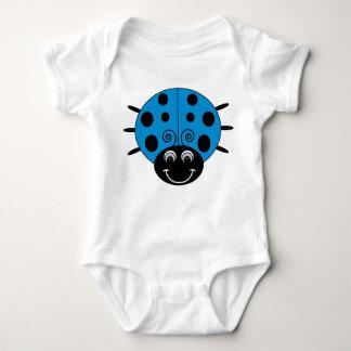 Blue Ladybug Baby Bodysuit