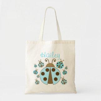 Blue Ladybug Tote Bag