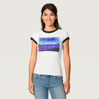 Blue Lagoon: Digitized Watercolor T-Shirt