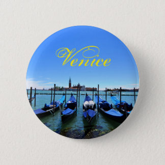 Blue lagoon in Venice, Italy 2 Inch Round Button