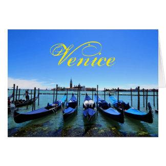 Blue lagoon in Venice, Italy Card