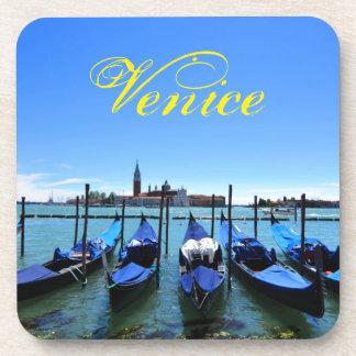 Blue lagoon in Venice, Italy Coaster