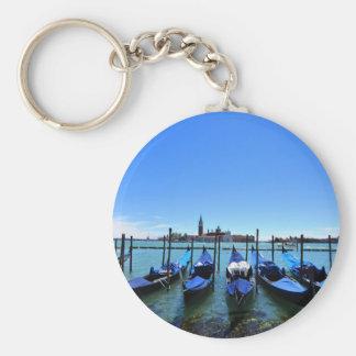 Blue lagoon in Venice, Italy Keychain