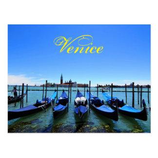 Blue lagoon in Venice, Italy Postcard