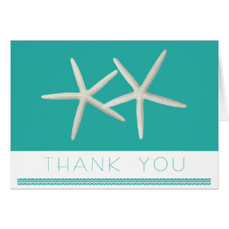 Blue Lagoon Starfish Custom Message Thank You Card