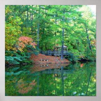 Blue Lake Early Autumn Print