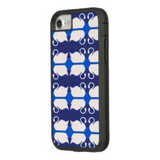 Blue Lake White Swans Reflections Crochet Print on Case-Mate Tough Extreme iPhone 7 Case
