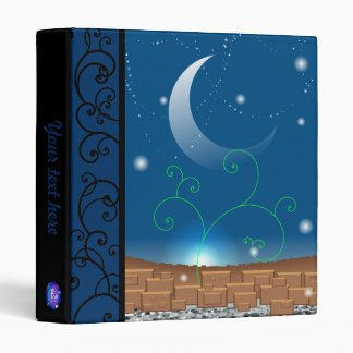 Blue landscape binder (your text here)