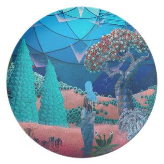 Blue Landscape Plate