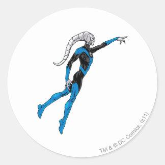Blue Lantern 10 Round Stickers