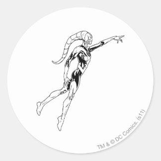 Blue Lantern 11 Round Sticker