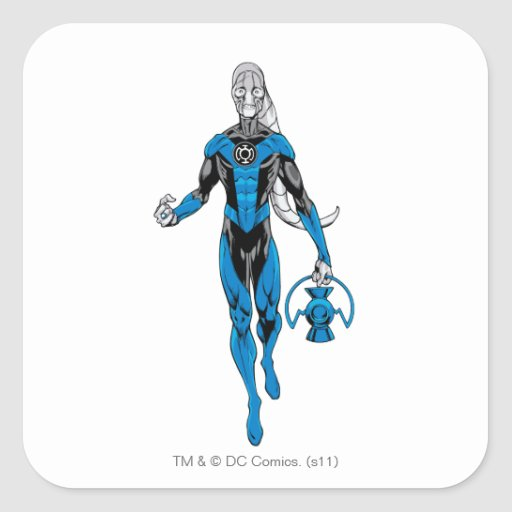 Blue Lantern 4 Square Stickers